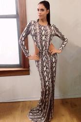 Women Celebrity Prom Backless Leopard Mermaid Maxi Dresses