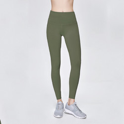 Solid Army Green Women Sport Yoga Pants Leggings