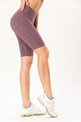 Double-Sided Sanding Nude Yoga Five-Pants Women High-Waist Hip Fitness Pants Tight Yoga Pants