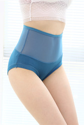 Sexy Women Underwear Seamless High Waist Panty Water Blue