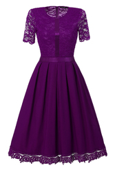 European and American lace stitching large dress