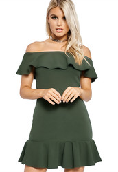 2017 Women's Side Cross Sleeveless Bandage One Piece Jumpsuit Romper Army Green