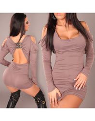Plus size Gray Long Sleeves Night Out Clubwear