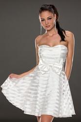 White strapless beauty skirt dress