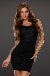Sleeveless black club dress