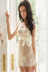 Sweetheart Newest Style  Tiered Belted Bowknot Babydoll