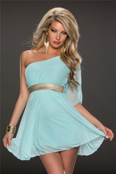 Hot sale women fashion club dress light blue