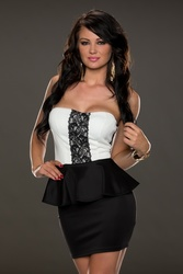 Ladies strapless black club dress