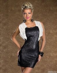Sequin hot sale women fashion dress