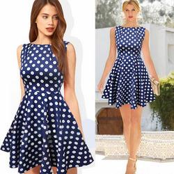Hot Sell Bitter Fleabane bitter fleabane skirt stitching polka dot dress