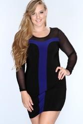 Plus size long sleeve dress for fat women