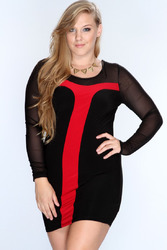 Plus size long sleeve dress for fat women