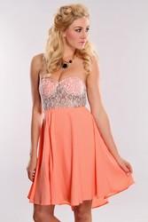 Pink Off-the-shoulder Evening Skirt