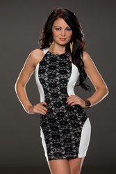 Charismatic Lace over Panelling Vintage Dress White