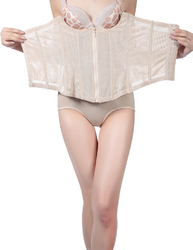 Hot Sale Women Shapewear Sexy Apricot Floral Print Body Slimming Corset