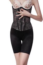 Floral Waistline Zip Postpartum Slimming Shapewear