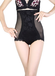 Black High Waist Lifter Embroider Slimming Bodyshaper