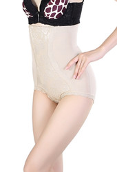 Apricot High Waist Lifter Embroider Slimming Bodyshaper