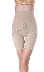 Women Best Waist Cincher Girdle Belly Trainer Corset Body Shapewear Apricot