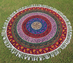 Women Boho Mandala Tapestry Beach Blanket Towel Round