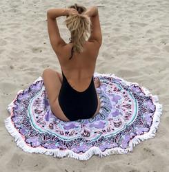 Bohemian Tassel Round Beach Towel Yoga Mat