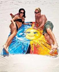 Sun & Moon Print Square Beach Towel