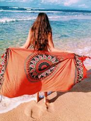 Blanket Throw Turkish Printed Beach Towel Orange