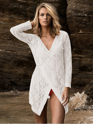 2017 Lace v-Neck Cover Up