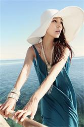 Light blue cotton sexy beach dress