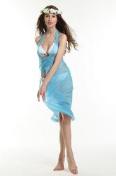Transparent sexy beach dress light blue