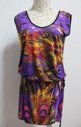Hot Peacock Beach Dress
