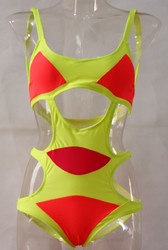 Hot Sell One Piece Bandage Bikini Orange Yellow