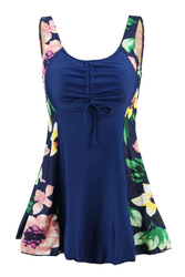 Women's Plus Size One Piece Swimdress Skirted Swimsuit Bathing Suits