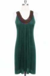 Green hot sale beach dress