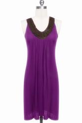 Purple hot sale beach dress