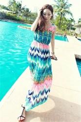 Wholesale chiffon long beach dress