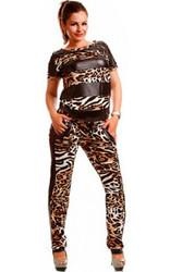 Leopard Sexy Women Romper Patchwork Jumpsuit
