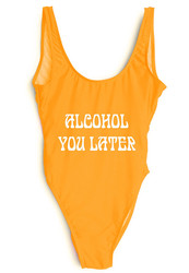 Hot items  Letter print Swimsuit   ALCOHOL YOU LATER