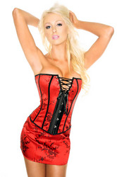 Red Laced Bust Overbust Corset