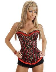 Cherry Pin-Up Burlesque Corset