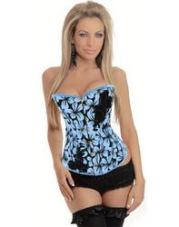 Blue Floral Design Corset