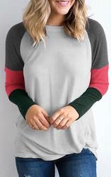 Color Block Long Sleeves T-Shirt
