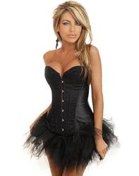 Black Sequin Burlesque Corset