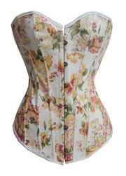 Yellow flower printed corset