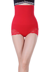 Red SexyWomen Seamless High Waist FlashLift Postpartum Shapewear
