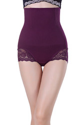 Purple SexyWomen Seamless High Waist FlashLift Postpartum Shapewear