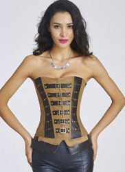 NewestWaist Training Tieback Corset Brown