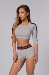 New Arrival Sexy Sleeveless Two Pieces Women Suit