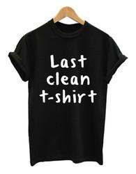 Women's Casual Letter Print T-shirt Last clean t-shirt