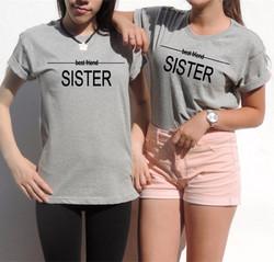 Women's Casual Letter Print T-shirt SISTER